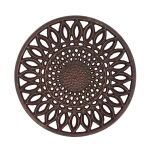 Sunflower Design Aluminum Trivet Tray 8 Inch from Design Imports