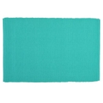 Aqua Ribbed Cotton Table Placemat 13x19 from Design Imports