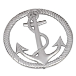 Casted Aluminum Anchor and Rope Trivet Tray 8 Inch from Design Imports