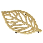 Aluminum Leaf Design Trivet Tray from Design Imports