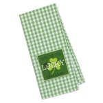 Shamrock You're My Lucky Charm Embellished Cotton Dish Towel 18x28 from Design Imports