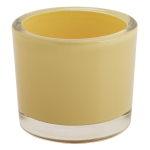 Yellow Glass Candle Holder 3.5 Inch from Design Imports
