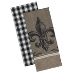 Fleur De Lis Cotton Dish Towels Set of 2 18x28 from Design Imports