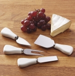 Cheese Cutting Stainless Steel Knife Set of 4 from Design Imports