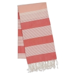 Oversized Coral Striped Fouta Cotton Towel/Throw 39x78 from Design Imports