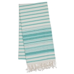 Aqua Mint Stripe Fouta Cotton Towel or Throw 39x78 from Design Imports
