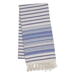 Oversized Indigo Blue Stripe Fouta Towel/Throw 39x78 from Design Imports