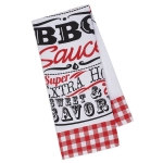 BBQ Sauce Printed Cotton Dish Towel 18x28 from Design Imports