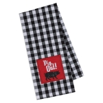 PIG OUT! Barbecue Themed Checkered Embellished Cotton Dish Towel 18x28 from Design Imports