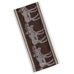 Moose Print Design Jacquard Cotton Dish Towel 18x28 from Design Imports