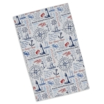 Maritime Themed Printed Cotton Dish Towel 18x28 from Design Imports