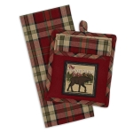 Moose Trail Lodge Potholder & Dish Towel Gift Set from Design Imports