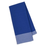 Blueberry Waffle & Stripe Cotton Dish Towel 18x28 from Design Imports