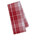 Tango Garden Red & White Plaid Cotton Kitchen Dish Towel 18x28 from Design Imports