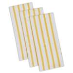 Daffodil Yellow Striped Heavyweight Cotton Dish Towel 18x28 Set of 3 from Design Imports