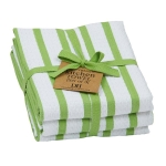 Lime Green Zest Heavyweight Cotton Dish Towels 18x28 Set of 3 from Design Imports