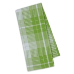Lime Green Zest Garden Plaid Cotton Kitchen Dish Towel 18x28 from Design Imports