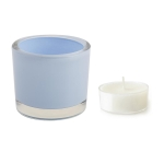 Baby Blue Glass Tea Light Candle Holder from Design Imports