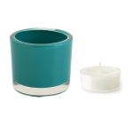 Teal Tea Light Glass Candle Holder 2.5 Inch from Design Imports