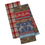 Western Themed Cotton Dish Towels 18x28 Set of 2 from Design Imports