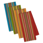 Set of 4 Cantina Stripes Cotton Dish Towel 18x28 from Design Imports