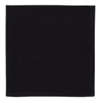Solid Black Cotton Cloth Table Napkin 20x20 from Design Imports
