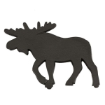 Moose Black Cast Iron Trivet Tray 8x8 from Design Imports