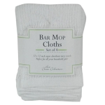 White Bar Mop Cotton Dishcloths Set of 4 from Design Imports