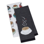 Cup of Coffee Cotton Dish Towel 18x28 Set of 2 from Design Imports