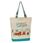 RV Themed Happy Camper Cotton Tote Bag from Design Imports