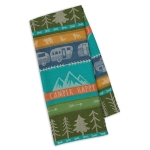 RV Park Happy Camper Jacquard Cotton Dish Towel 18x28 from Design Imports