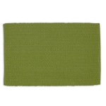 Thyme Green Dobby Stripe Cotton Table Placemat 13x19 from Design Imports