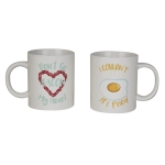 Set of 2 Breakfast Stoneware Coffee Mugs (Don't Go Bacon My Heart & I Couldn't If I Fried) from Design Imports