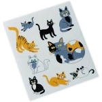 Cat Lover Cat Print Collage Cotton Swedish Dishcloth  from Design Imports