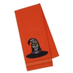 Witch's Hat Embellished Cotton Dish Towel 18x28 from Design Imports