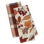 Autumn Botanical Fall Leaves Cotton Dish Towel Set of 2 from Design Imports