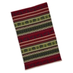 Mountain Woods Bear Print Design Stripe Jacquard Cotton Dish Towel 18x28 from Design Imports