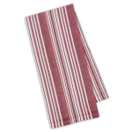 Garnet Herringbone Stripe Cotton Dish Towel 18x28 from Design Imports