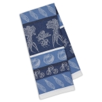 Marine Blue Veggies Jacquard Cotton Dish Towel 18x28 from Design Imports