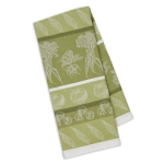 Parsley Green Veggies Print Jacquard Cotton Dish Towel 18x28 from Design Imports