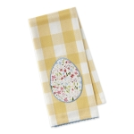 Floral Lace Egg Checkered Embellished Cotton Dish Towel 18x28 from Design Imports