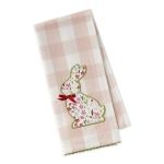 Sweet Flower Bunny Embellished Cotton Dish Towel 18x28 from Design Imports