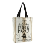 Bushel & Peck Farmers Market Themed Printed Cotton Tote Bag from Design Imports