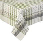 Herb Garden Plaid Cotton Tablecloth from Design Imports