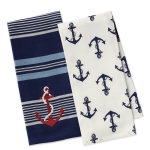 Maritime Anchor Themed Cotton Dish Towels 18x28 Set of 2 from Design Imports