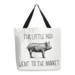 This Little Piggy Went To The Market Cotton Tote Bag from Design Imports