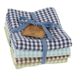 Lake Checks Heavyweight Cotton Dish Towel 18x28 Set of 4 from Design Imports