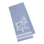 Relax You're at the Lake Beach Chair Themed Embellished Cotton Dish Towel 18x28 from Design Imports