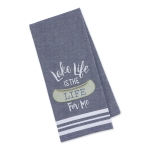 Canoe Themed Lake Life Is The Life For Me Embellished Cotton Dish Towel 18x28 from Design Imports
