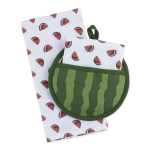 Watermelon Themed Potholder & Dish Towel Gift Set from Design Imports